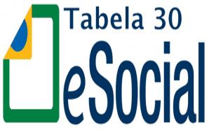 eSocial - Tabela 30